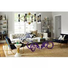 jonathan adler coffee table aries glass and purple cocktail table modern furniture jonathan