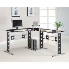 black l shaped computer desk coaster furniture black l shape computer desk hayneedle
