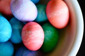 diy til we die lace patterned easter eggs