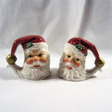 fitz u0026 floyd essentials holiday santa salt u0026 pepper shakers shoaza