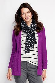 purple cardigan sweater lands end drifter cable cardigan sweater where to buy how to wear