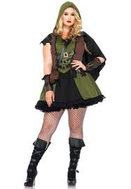 darling robin hood costume by leg avenue plus size fancy dress