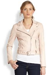 leather motorcycle clothing mackage leather motorcycle jacket in pink lyst