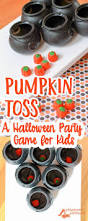 halloween game party pumpkin toss simple party games for children preschool