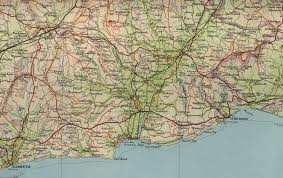 Devon England Map by Sidmouth Map