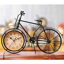 black wrought iron table clock wholesale vintage classical wrought iron bicycle desktop clock