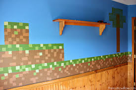 diy sponge painted minecraft walls the rustic willow we absolutely