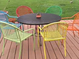 Metal Garden Table And Chairs Patio 14 Metal Patio Table Round Metal Patio Dining Table 48