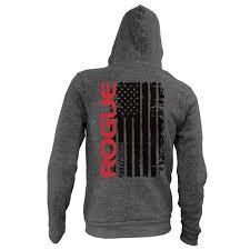 rogue hoodie logo sweatshirt gray rogue fitness
