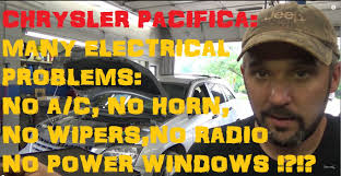 chrysler pacifica tipm electrical problems youtube