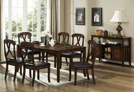 distressed oak finish transitional dining table w optional items