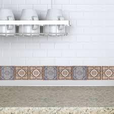 Tile Decals For Kitchen Backsplash Decorative Tiles Stickers Lisboa Pack Of 16 Tiles Tile Decals