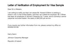 Embassy Letter From Bank Letter Of Verification Of Employment