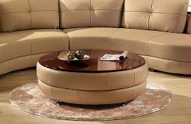 round leather coffee table gorgeous round leather coffee table plisse coffee table low tables