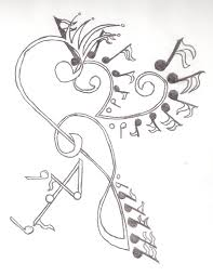 cool drawings of music notes images pictures nearpics clip art