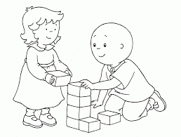 caillou coloring pages line drawings 5007
