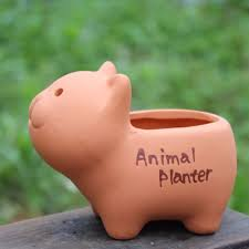 aliexpress com buy 8ps set diy mini animal planters kawaii