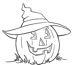 free coloring pages of a pumpkin pumpkin using witch hat coloring pages halloween coloring pages