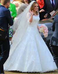 christian wedding gowns geri halliwell with bluebell as she marries f1 s