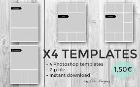 x4 photoshop collage templates by entrelugas on deviantart