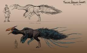 toucan dragon concept sheet by arvalis on deviantart
