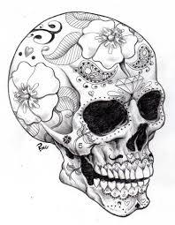 printable coloring pages sugar skulls sugar skull coloring pages download printable coloring pages