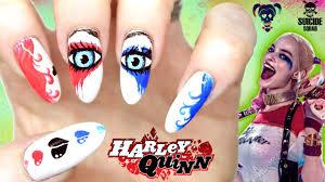 harley quinn nail art squad nails pop art comic book