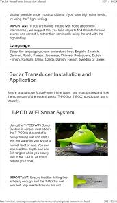 Sp300 Fish Finder User Manual Shenzhen Phiradar Technology Co Ltd