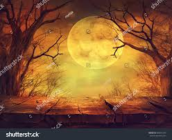 halloween flyer background halloween background spooky forest full moon stock photo 483541297