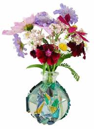 Decorate A Vase Glass Crafts How To Upcycle Bottles Using Stained Glass Mosaic