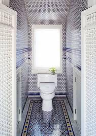 Blue Glass Tile Bathroom Toilet Water Closet Blue Mosaic Tile Moroccan Bathroom Cococozy