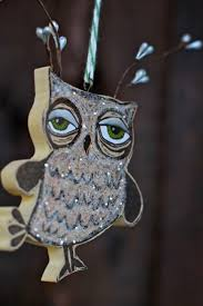 my handmade ornaments for owl
