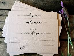 my advice for the and groom cards rustic wedding advice cards advice cards advice for the