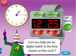 digital watch set a year 3 time resource for interactive whiteboards