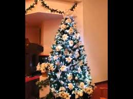 large sets silver and white tree decorating ideas with