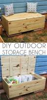 diy outdoor storage bench shaina glenn