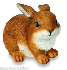 resin crouching rabbit ornament figure animal statue garden