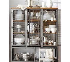 Pottery Barn Kitchen Hutch by Gridley Caged Storage Cabinet Pottery Barn Possible Want But