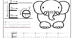 letter e tracing worksheets preschool free worksheets library