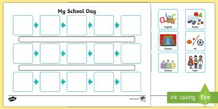 individuals visual timetable template individual visual