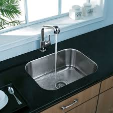 modern stainless steel kitchen modern sinks kitchen ideas with single rounded rectangular