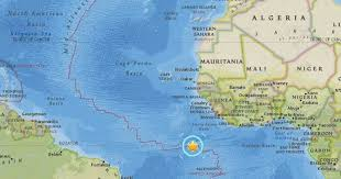 ascension islands map earthquake of 6 7 about 790 km of ascension island no