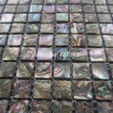 Abalone Shell Green Mosaic Tilekitchen Backsplash Tilesmother Of - Mosaic backsplash tile