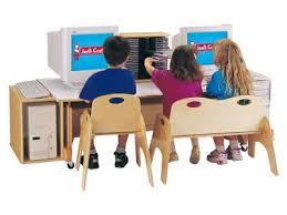 Kid Computer Desk Computer Table 60 Inch Blue