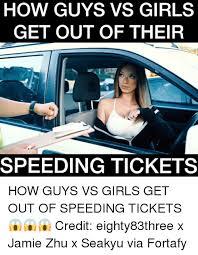 Speeding Meme - how guys vs girls get out of their speeding tickets how guys vs