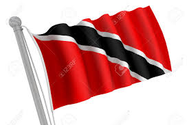 Flag For Trinidad And Tobago Trinidad And Tobago Flag On Pole Waving In The Wind Stock Photo