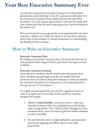 executive summary report template free sample executive summary