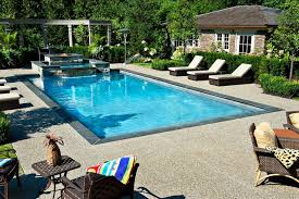 Exposed Aggregate Patio Pictures by Gib San Pools Ltd Traditional Pool Toronto By Gib San