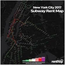 Map Nyc Subway New York City Rents By Subway Stop 2017 Renthop