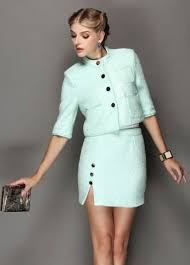 suit dress green woolen two dress suit